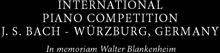"International Piano Competition ""Johann Sebastian Bach"""